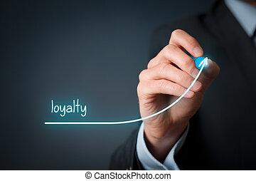 aumento, lealdade,