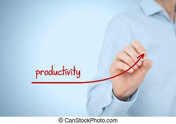 productividad, aumento,