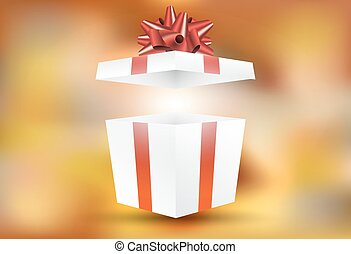 Vector open gift box with surprise inside