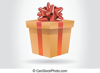 Vector gift box with surprise inside