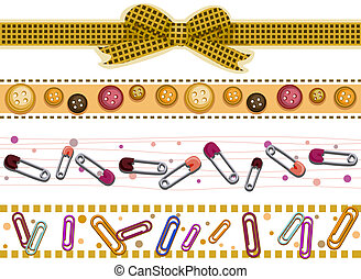 Scrapbook Borders - Scrapbook Border Set with Clipping Path