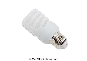 Compact fluorescent lamp on a light background - Compact...