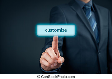 Customize personalize product E-commerce concept Businessman...