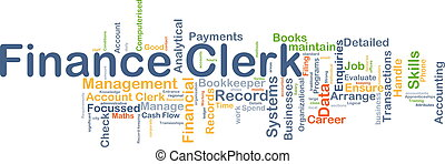 Finance clerk background concept