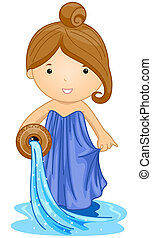Aquarius Girl with Clipping Path