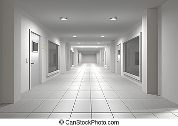 Corridor - 3d rendering of an interior scene of an empty...