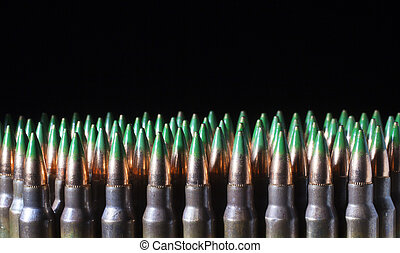 Green tip cartridges - Bullets with green tips on rifle...