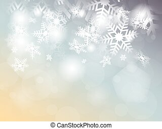 Christmas background with snowflakes, place for text -...