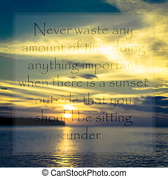 Meaningful quote on seascape background - Meaningful quote...