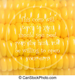 Meaningful quote on corn background - Meaningful quote on...