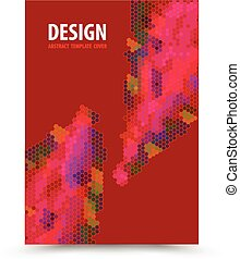 Book cover template red background