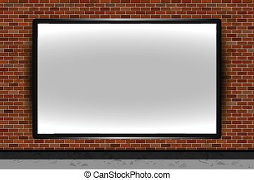 Blank vector billboard advertisement, empty screen