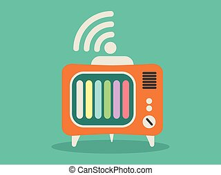 Television with internet icon vector illustration
