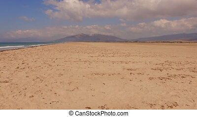 Aerial View From Flying Drone on Tarifa Area in Spain