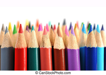 Colored pencils - Assortment of coloured pencils isolated