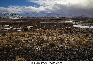 Volcanic landscape on the Snaefellsnes peninsula in Iceland...