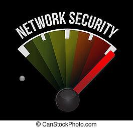 network security meter sign concept illustration design...