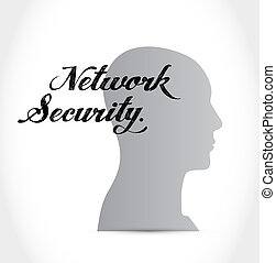 network security mind sign concept