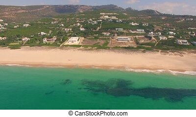 A View from a Drone Over Tropical Beach in Spanish Andalucia