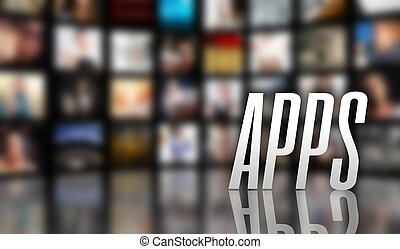 Apps television concept LCD TV panels