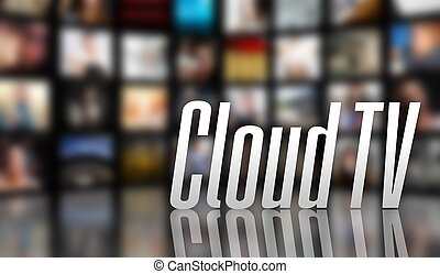 Cloud TV television concept LCD screen panels