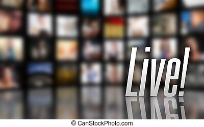 Live television concept LCD TV panels