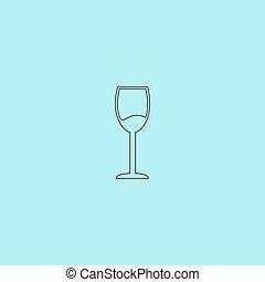 Wine glass vector icon. Alcohol drink symbol. - Simple Wine...