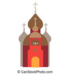 orthodox church - vector illustration of orthodox catholic...