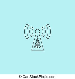 transmitter icon - Transmitter Simple outline flat vector...