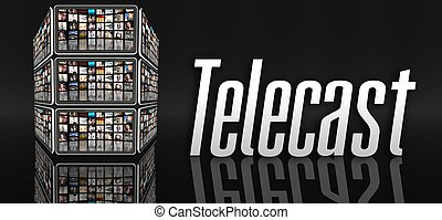 Telecast concept, tablets or LCD panels - Telecast concept,...