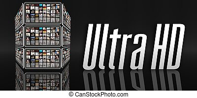 Ultra HD television concept, tablets or LCD panels - Ultra...