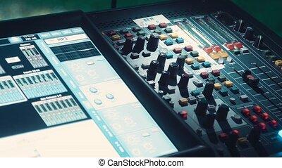 Audio mixer, live concert - audio mixer, live concert audio...