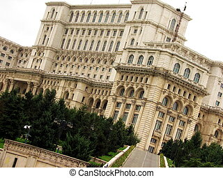 Romanian parliament,  Bucharest, Eastern Europe