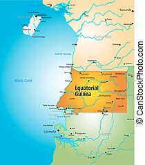 Equatorial Guinea - Vector color map of Equatorial Guinea...