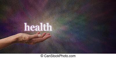 saúde, seu, mãos