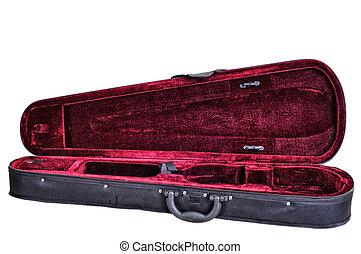 dark red velvet case for violin