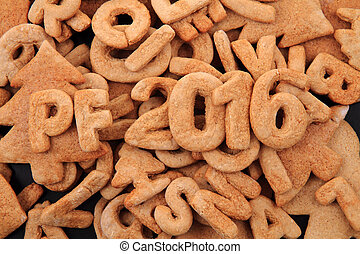 gingerbread PF 2016 with baked alphabet background