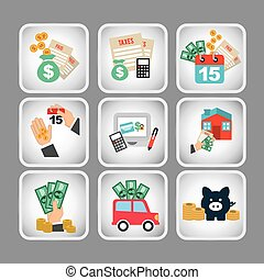 business set icons