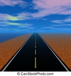 Road to new beginning - Direct road to new horizon with cute...