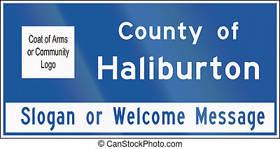 County Name Sign In Ontario - Canada - A County name sign in...