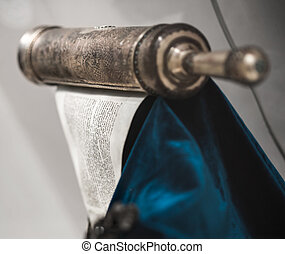 unwrapped Torah scroll silver - ancient sacred the unwrapped...