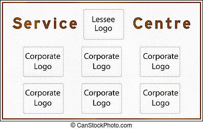 Blank Service Centre Sign In Ontario - Canada - A Blank...