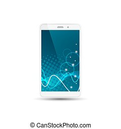 White smart phone isolated