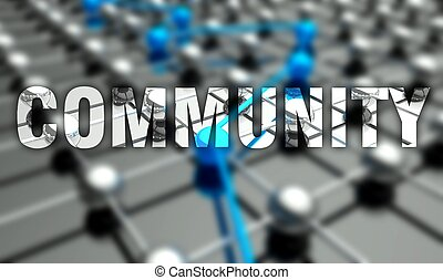 Community concept, network background