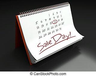 Sale important day, calendar concept