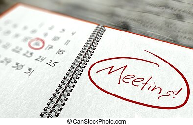 Meeting important day, calendar concept