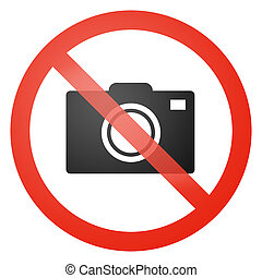 No photos allowed sign - Photo not allowed sign - white...
