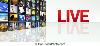Live video wall LCD TV panels