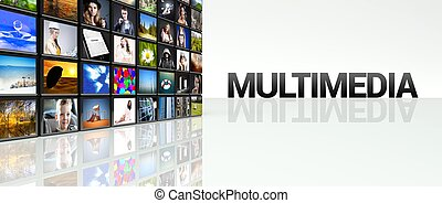 Multimedia video wall LCD TV panels