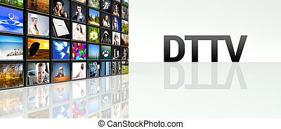 DTTV technology video wall LCD TV panels